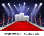 stage for awards ceremony....   Shutterstock .eps vector #606826139