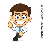 businessman leaning on an empty ...   Shutterstock .eps vector #606826445