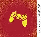 old joystick. games. vector... | Shutterstock .eps vector #606831089
