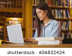 serious student working on... | Shutterstock . vector #606832424