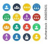 people vector icon set | Shutterstock .eps vector #606835631