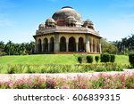 mohammad shah tomb  lodhi... | Shutterstock . vector #606839315