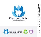 dental clinic  vector logo... | Shutterstock .eps vector #606844775