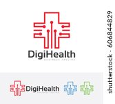 digital health  vector logo