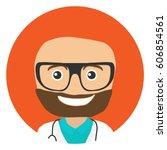 doctor portrait. vector... | Shutterstock .eps vector #606854561