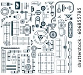 spare parts for building... | Shutterstock .eps vector #606855785