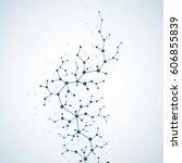 molecules concept of neurons... | Shutterstock .eps vector #606855839