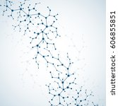 molecules concept of neurons... | Shutterstock .eps vector #606855851