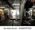 the fitness center and its... | Shutterstock . vector #606859505