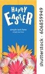 happy easter day  vector... | Shutterstock .eps vector #606859949