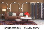 interior with sofa. 3d... | Shutterstock . vector #606875099