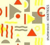 seamless geometric pattern in... | Shutterstock .eps vector #606878321