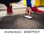 portrait of an athlete man... | Shutterstock . vector #606879419