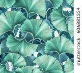 seamless tropical flower  plant ... | Shutterstock . vector #606881324