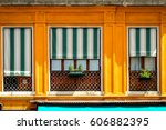 yellow windows  venice  italy | Shutterstock . vector #606882395