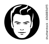 man model hair face icon | Shutterstock .eps vector #606885695