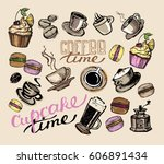 hand drawn doodle illustration... | Shutterstock .eps vector #606891434