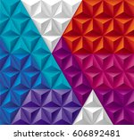 modern triangles and pyramids... | Shutterstock .eps vector #606892481