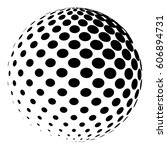 sphere with a halftone pattern. ... | Shutterstock .eps vector #606894731