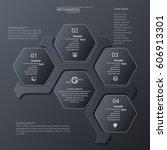 vector abstract 3d paper... | Shutterstock .eps vector #606913301