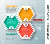 vector abstract 3d paper... | Shutterstock .eps vector #606913385