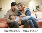 happy family spending time with ...   Shutterstock . vector #606914567