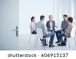 people participating in group... | Shutterstock . vector #606915137