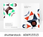 memphis geometric background... | Shutterstock .eps vector #606915515