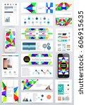 memphis geometric background... | Shutterstock .eps vector #606915635