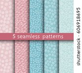 5 universal patterns for your... | Shutterstock .eps vector #606918695
