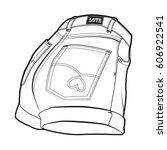 women's shorts. vector shorts'... | Shutterstock .eps vector #606922541