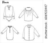 blouses vector illustration  | Shutterstock .eps vector #606923447