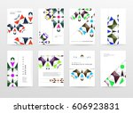 memphis geometric background... | Shutterstock .eps vector #606923831