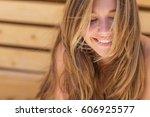 beautiful woman | Shutterstock . vector #606925577