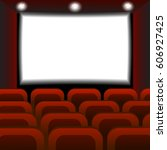 interior of a cinema movie...   Shutterstock .eps vector #606927425