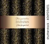 invitation or greeting card... | Shutterstock .eps vector #606935651