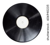 old vinyl lp record isolated | Shutterstock . vector #606940235
