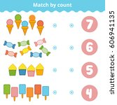 counting game for preschool... | Shutterstock .eps vector #606941135