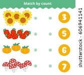 counting game for preschool... | Shutterstock .eps vector #606941141