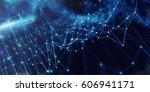 dig data conceptual digital...   Shutterstock . vector #606941171