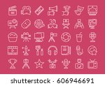 set vector line icons  sign and ... | Shutterstock .eps vector #606946691