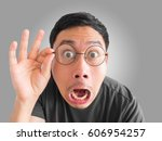 shocked and surprised funny... | Shutterstock . vector #606954257