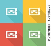 gaming apps flat icon concept