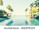 blur summer background for... | Shutterstock . vector #606959225