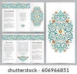 ornate vintage booklet with... | Shutterstock .eps vector #606966851