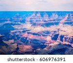 amazing nature of grand canyon... | Shutterstock . vector #606976391