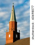 Old Copper Church Steeple Just...
