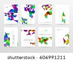memphis geometric background... | Shutterstock .eps vector #606991211