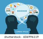 flat vector business... | Shutterstock .eps vector #606996119