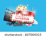 vector illustration. banner for ... | Shutterstock .eps vector #607004315